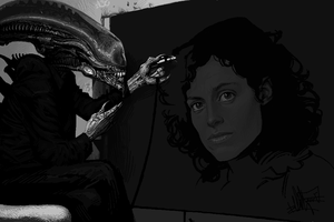Ripley: Attacks from Space (Ms Paint) by kopfstoff