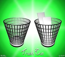 Chrome Trash Can Clear icon by MDGraphs