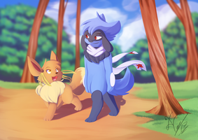 Meanwhile by Xael-The-Artist
