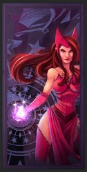 Avengers Card Scarlet Witch by frogbillgo