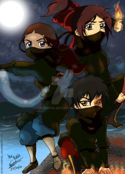 Avatar Chibi Southern Raiders Adventure by Asphil