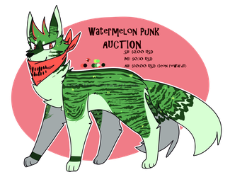Watermelon Punk AUCTION [ CLOSED ] by TangerineAdopts