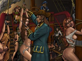 COMMISSION - Pirate Slave Galley 02 by DocRedfield