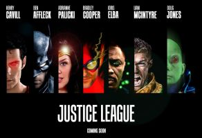 Justice League Movie Poster - Teaser by MenziesTank
