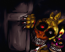 FNAF 4 - Time to Party +SPEEDPAINT by Al-ix