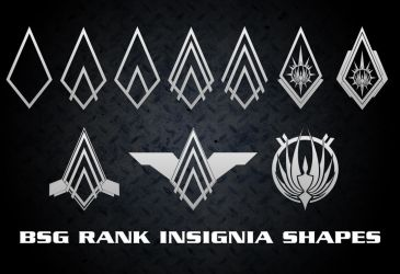 BSG Rank Pin Vector Shapes by Retoucher07030