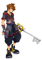 Sora Kingdom hearts 3 design by kimbolie12