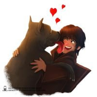 Ramsay and his Pupper by ArtKitt-Creations