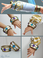 PROGRESS: Lana's bracelet from Hyrule Warriors by LayzeMichelle