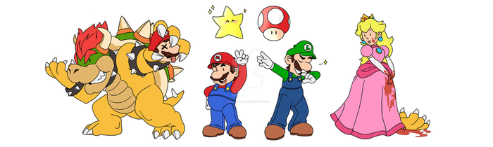 Super Mario Bros ... gone wrong by AssilemDraws