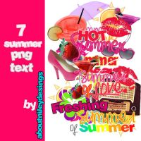 7 Summer Png Text by aboutnileydesings