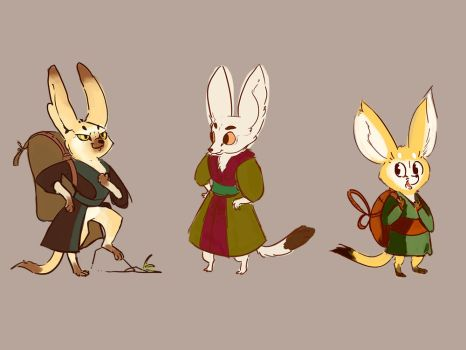 Fennec Foxes by Valhalrion