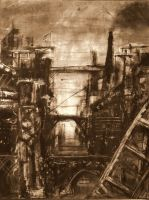 abstract industrial reality v2 by croustipote