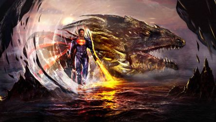 Man of Steel Dark Ages by Joseph-C-Knight