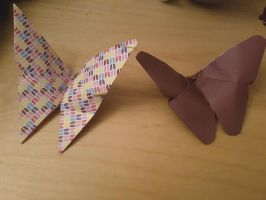 Origami Butterflies. by MadameButterfly94