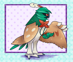 Decidueye - 003 by The-Spikey-Mouth