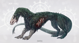SCP-682 by YargoElster