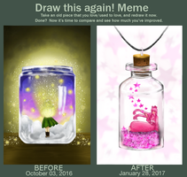 Draw this again! Meme: Glass Jar by Artistic-Ana