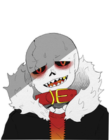 spooky sweaty skeleton by thecatinthedrawer
