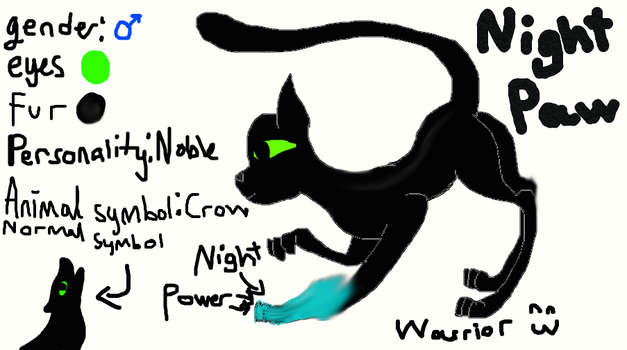 Warriors Nightpaw by Aekgh