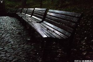 Empty Benches in Kugulu Park Of Ankara by bulentcalli