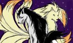 Ninetales and Mightyena by Commander-Moofin