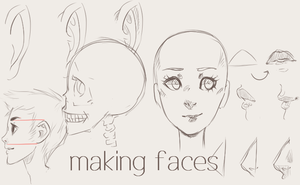 Making Faces (Tutorial) by twin-tail