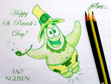 Tao Nguyen's St. Patrick's Day Sketch Drawing by TaoNguyenArts