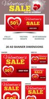 Valentine's Sale Web Ad Banners - 2014 by webduckdesign