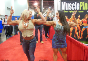 Denise Masino And Tish Shelton at Muscle Pinups by zenx007