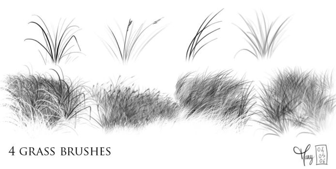 Grass brushes by Katikut