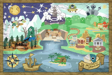 Paper Mario Map by PositronGaming