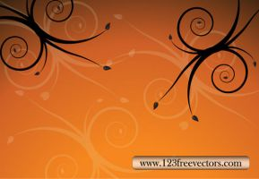 Floral Background Free Vector by 123freevectors