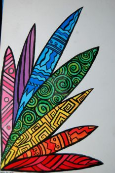 The Rainbow Weed: outlined by mikkamix