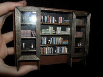Miniature Bookcase for my Foamcore Dollhouse by kayanah