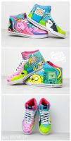 Adventure Time Sneaker by Bobsmade