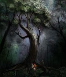 Speedpainting Treehome by umbrafox