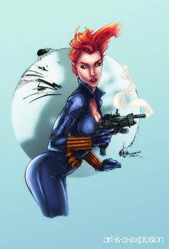 Beware of the Black Widow by Art-is-a-Explosion