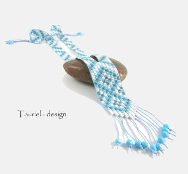 Mapiya beaded, native american inspired necklace by Tau-riel