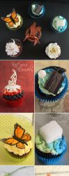 The Hunger Games: Catching Fire Cupcakes by cakecrumbs