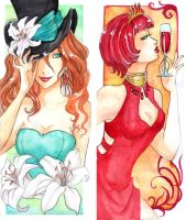- COMMISSION - Yelde and Callie  Bookmark - by ooneithoo