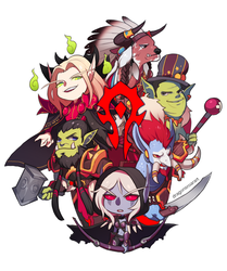 WORLD OF WARCRAFT: FOR THE CHIBI HORDE! by GRAVEWEAVER
