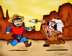 Cowboys and Indians by Mr-Toontastic