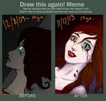 Draw This Again Meme - Vampire by aloramilan