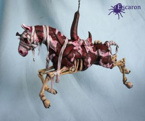 Silent (Hill) Carousel - Sculpture by Escaron