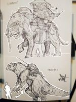 Mount sketches by Nezart