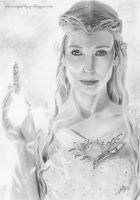 Pencil Drawing Galadriel by iSaBeL-MR