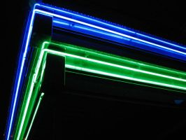 Neon Green and Blue by Sunspot01