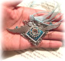 Angel winged necklace by SprinkleChick