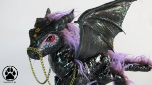 Indigofera the Purple Orb Dragon artdoll OOAK by CreaturesofNat